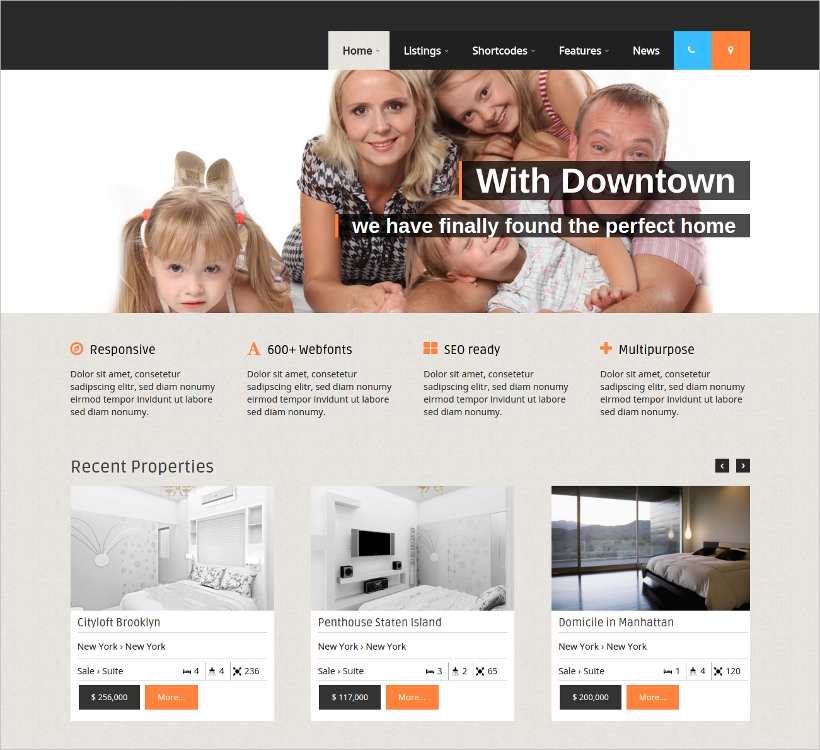 wordpress theme for real estate agencies