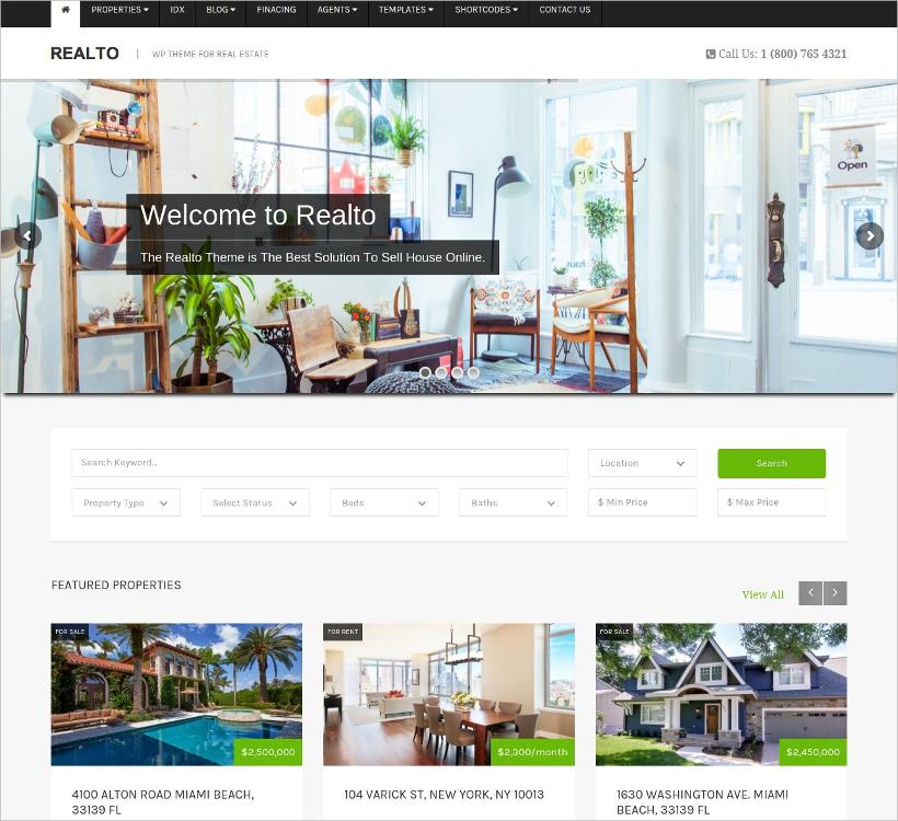 wordpress theme for real estate companies