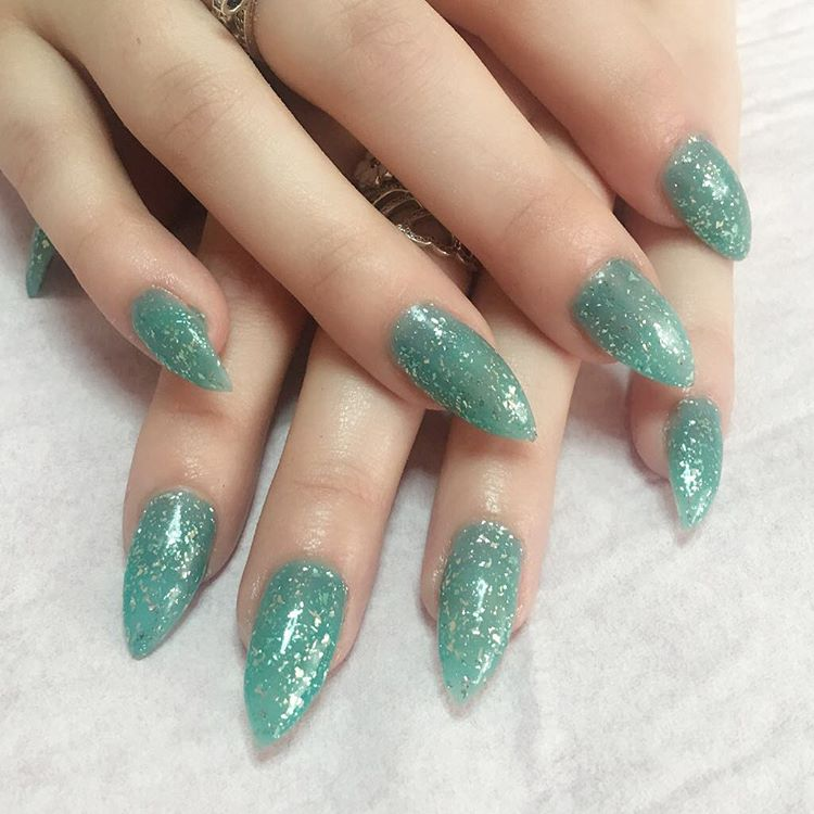 wonderful light green nails art
