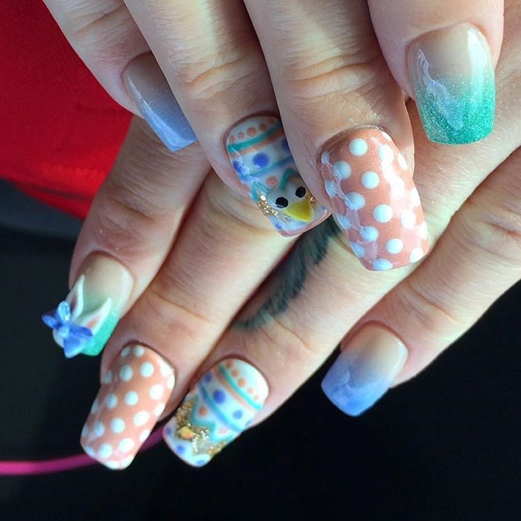 cute acrylic nail art