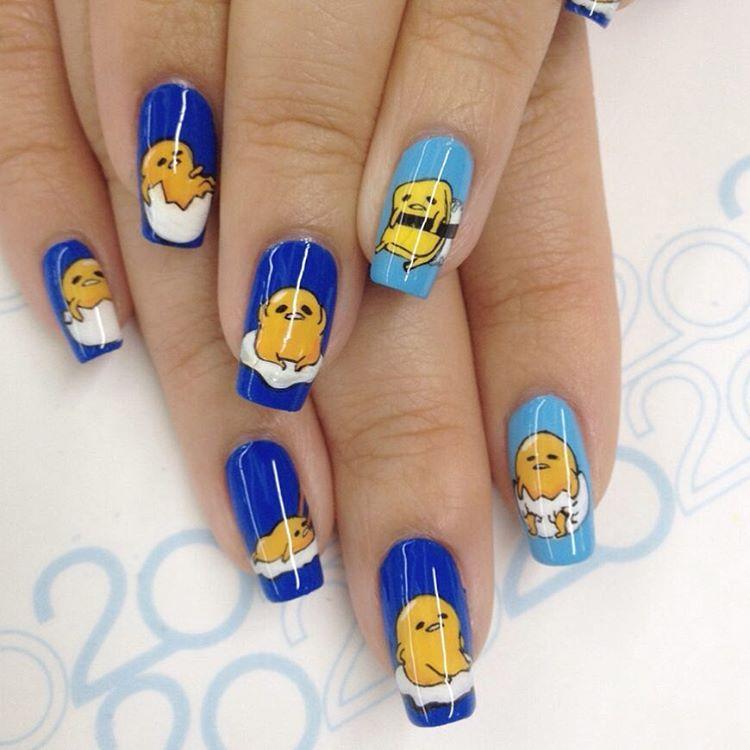 funky acrylic nail design
