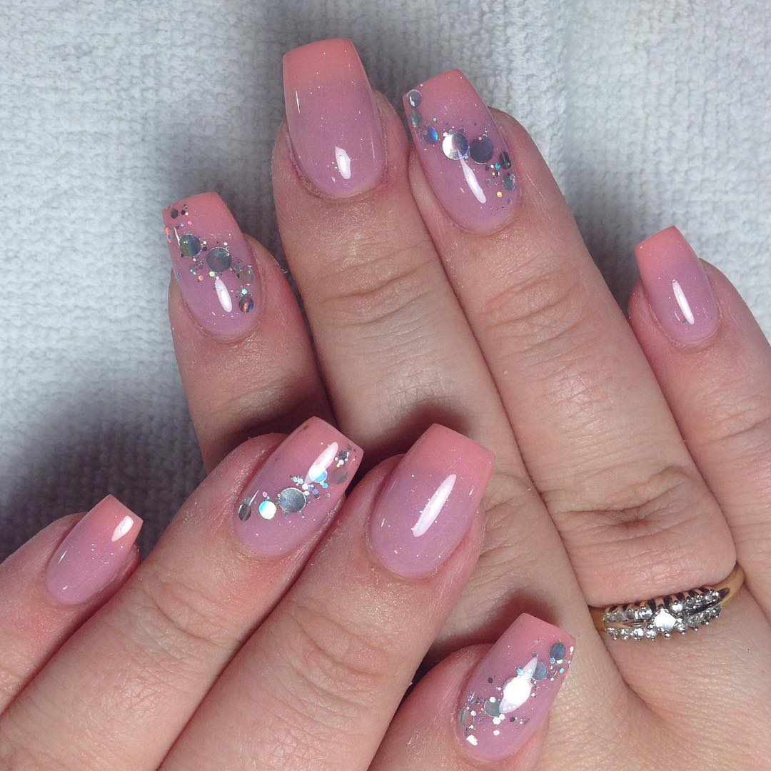 Nail Swag Pink Crystal Art Design
