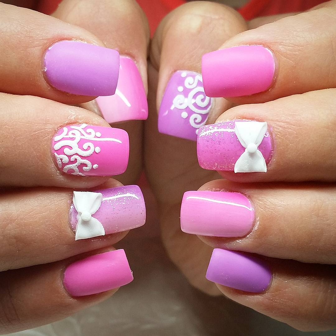 Gel Nail Designs: 25+ Pink Summer Nail Arts, Ideas