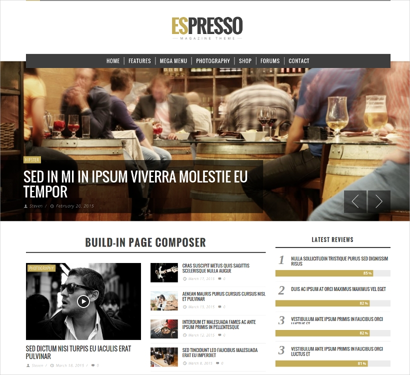 espresso magazine wordpress theme