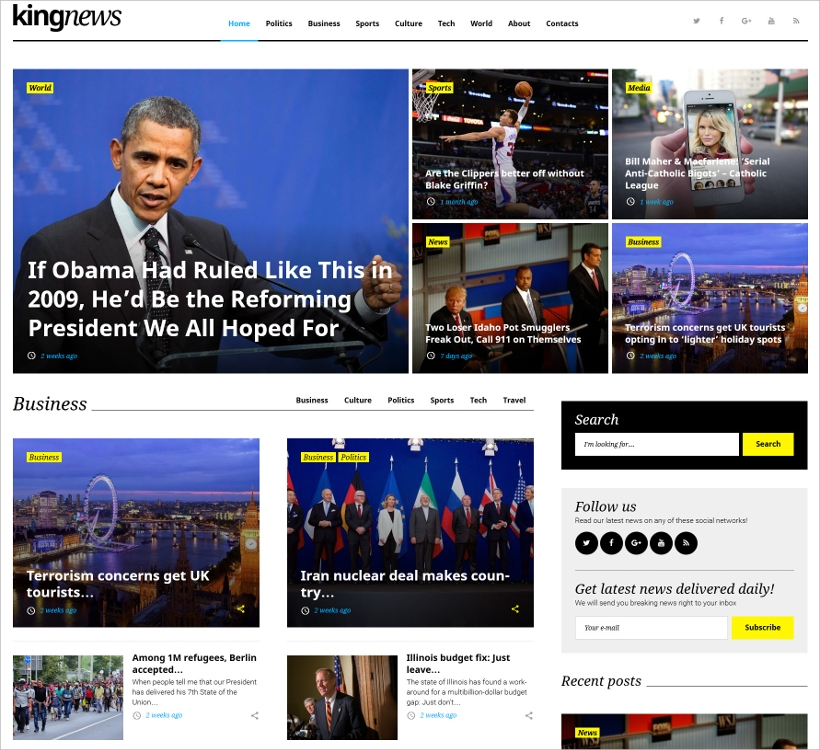 magazine newspaper blog wordpress theme