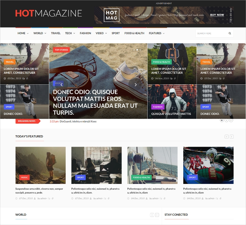 News & Editorial Magazine WordPress Theme