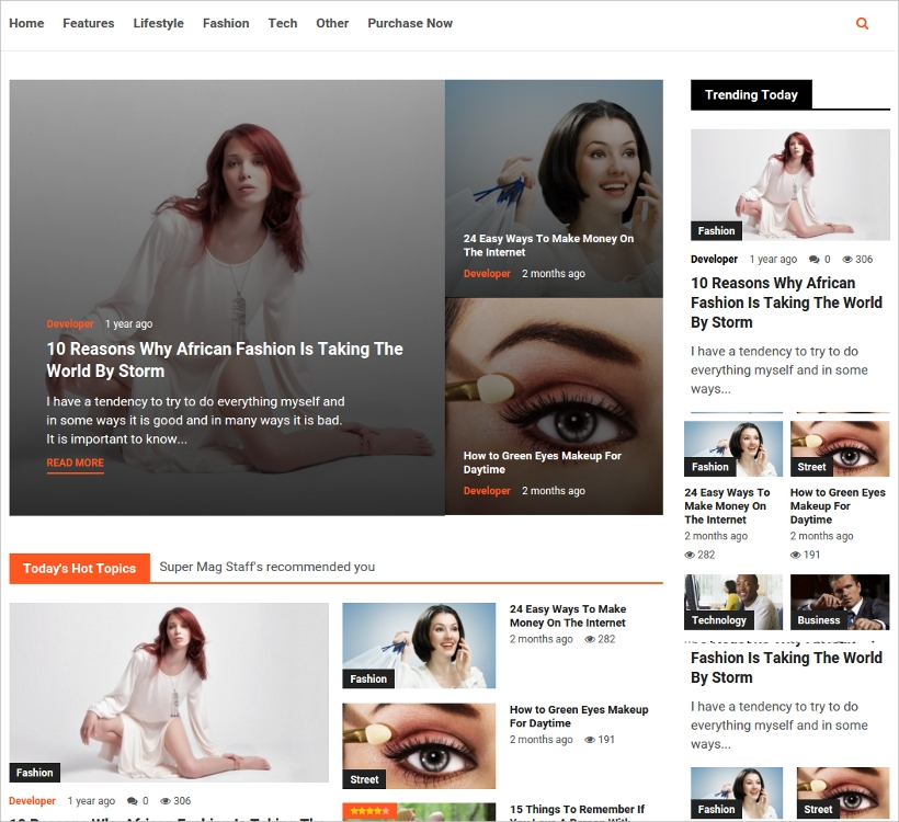 News Magazine and Blog WordPress Theme