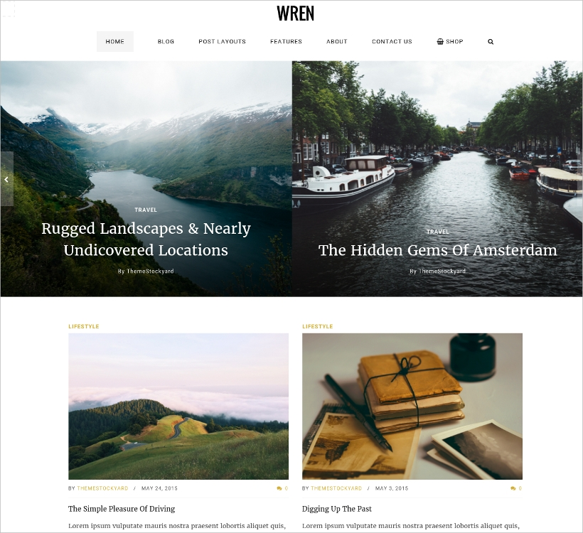 Responsive Blog, News, & Magazine Theme