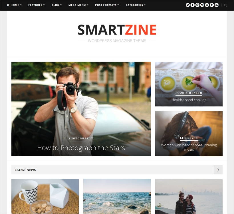 SmartZine WordPress Theme