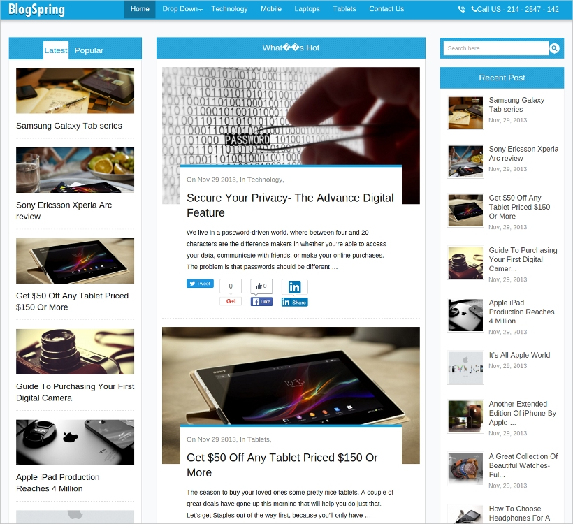 stylish magazine blog wordpress theme