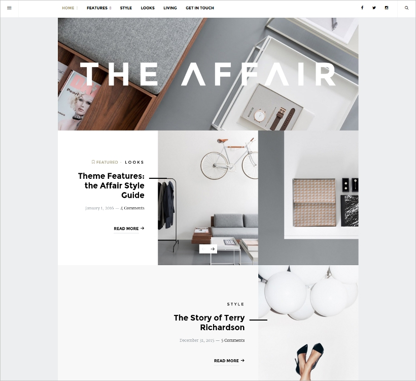 theme for personal blogs and magazines