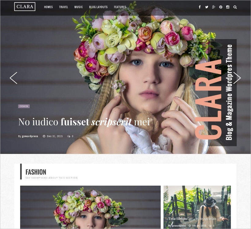 wordpress magazine and blog theme
