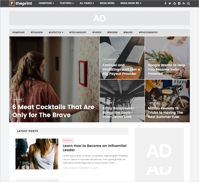 WP Theme for Online Magazine Newspaper Websites