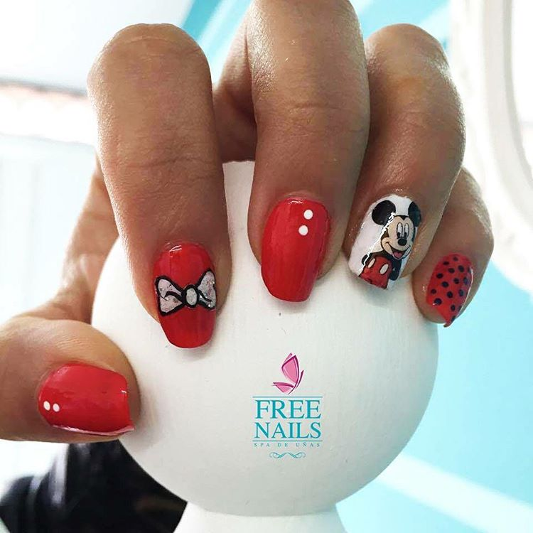 mickey mouse nail design for girls
