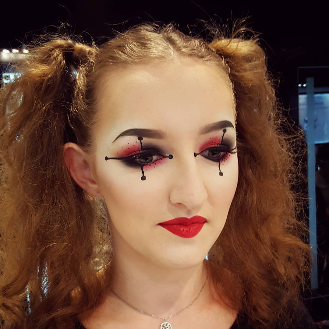 Harlequin Makeup for Beautiful Girl