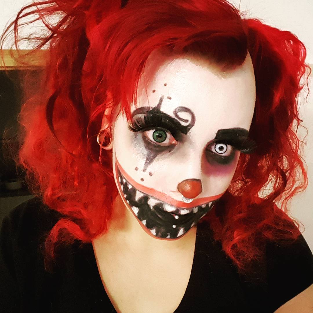 Halloween Harlequin Makeup