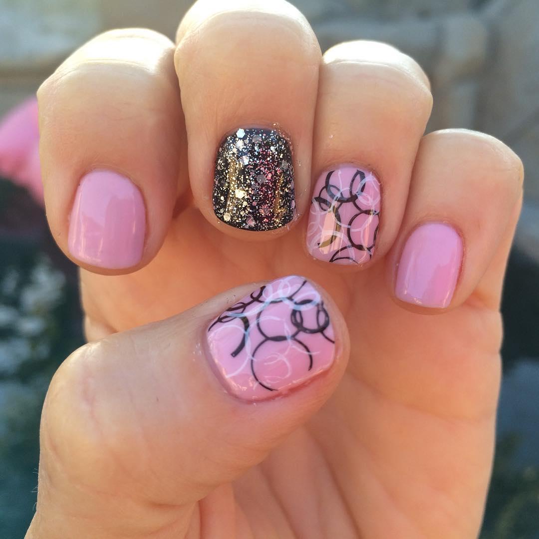 Stamping Art Design For Short Nails
