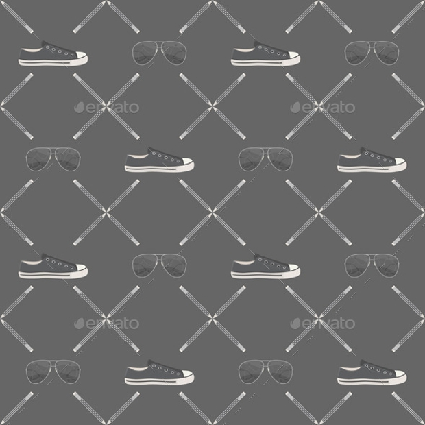 Hipster Illustration Pattern Design