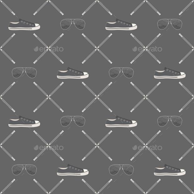 hipster illustration pattern design