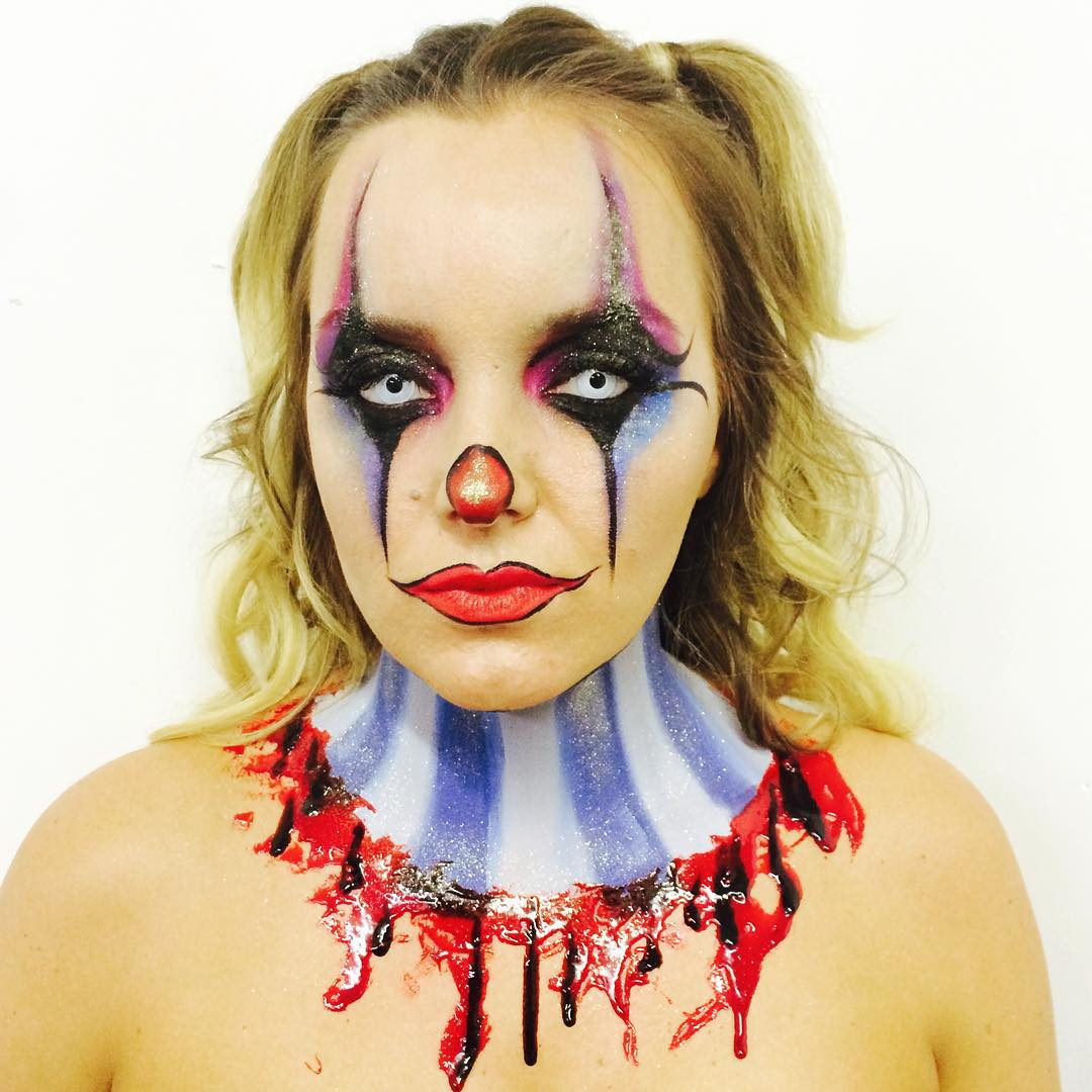 Scary Harlequin Makeup Designs
