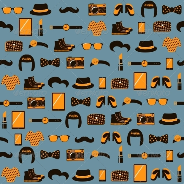 Vintage Hipster Pattern Background
