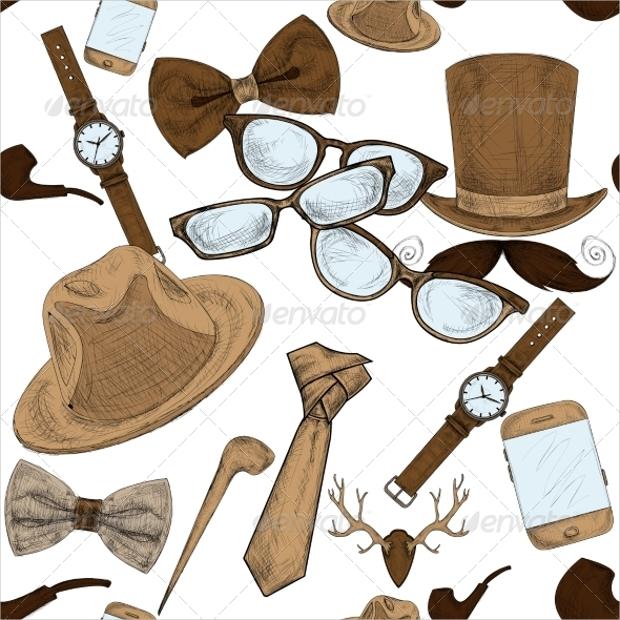hipster accessories design pattern