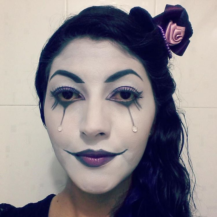 Harlequin Party Makeup