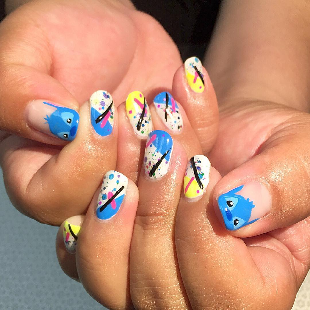Fun Angry Bird Nail Art Idea For Party