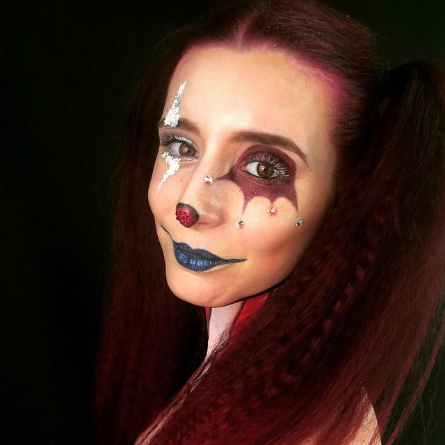 Modern Harelquin Makeup Design