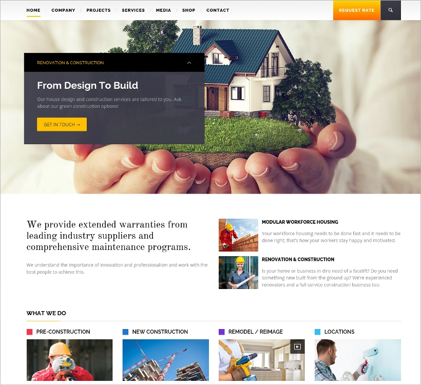 Building & Architecture WP Theme