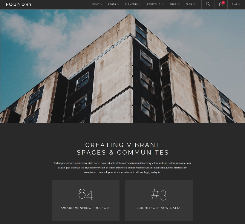 Business Portfolio WordPress Theme