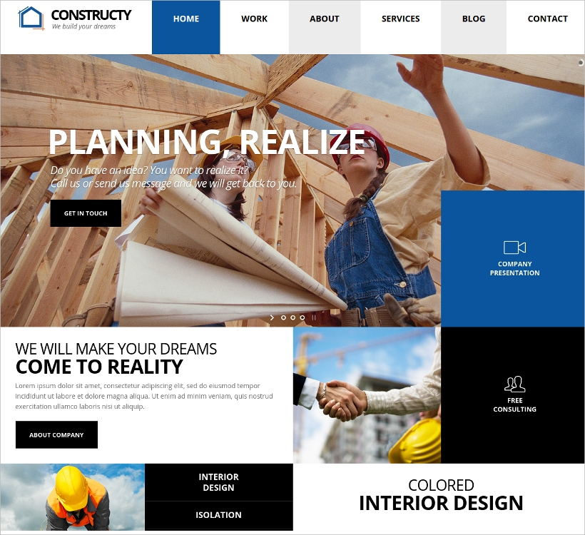 Construction Building Business Theme