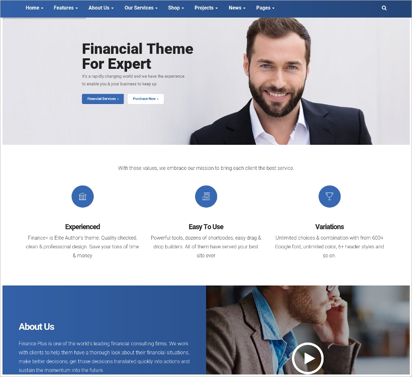 Finance & Business WordPress Theme