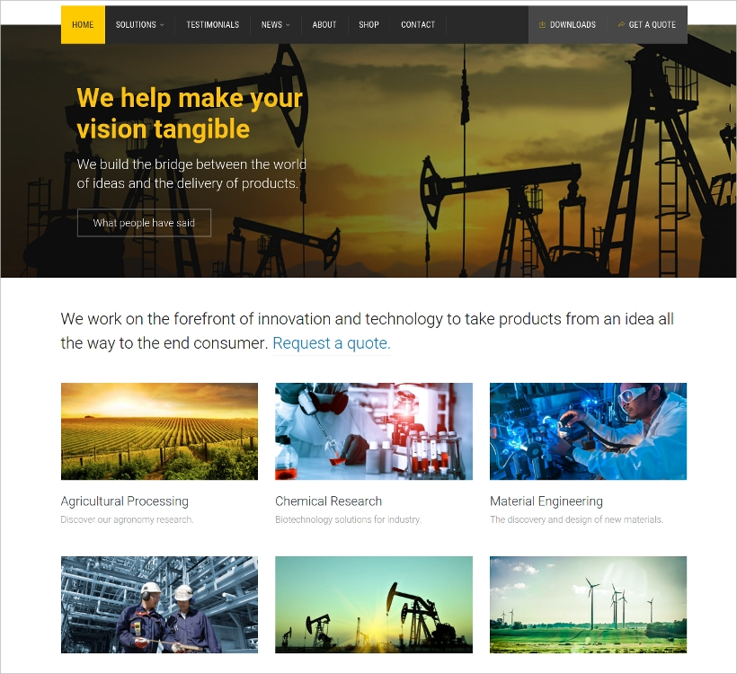 Industrial Business WordPress Theme