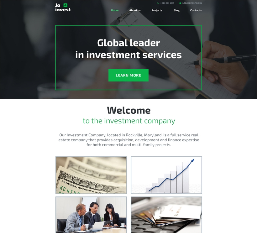 Investment Company Template