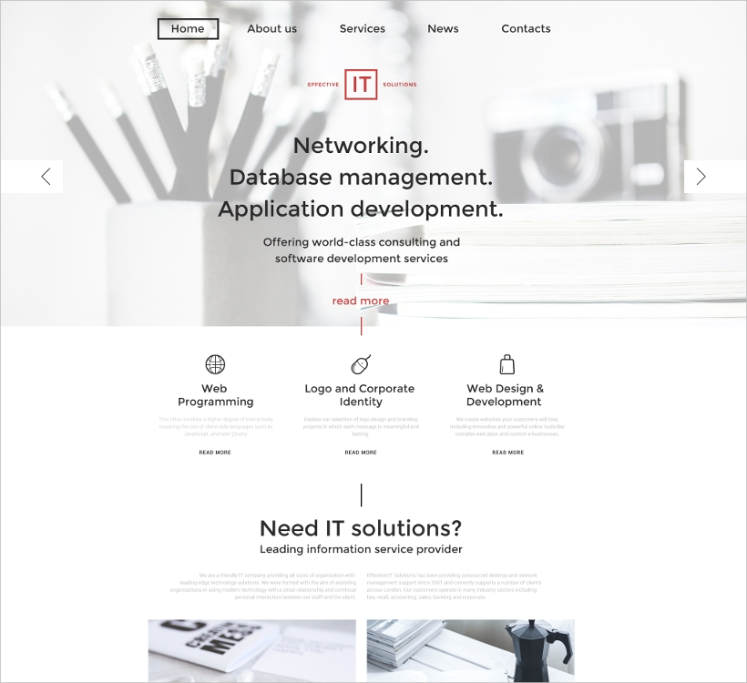 IT Business & Services Template