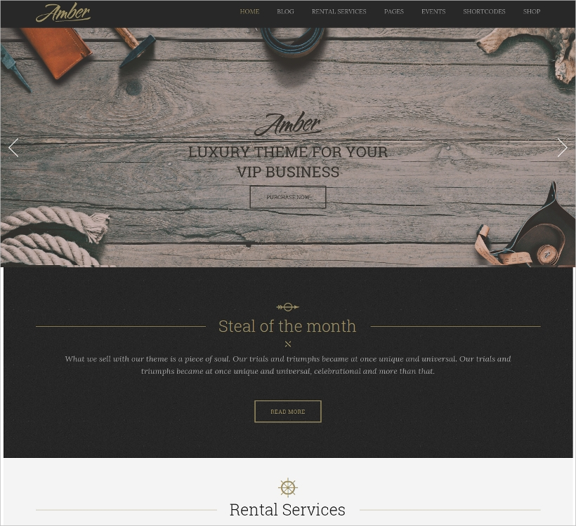 Luxury Business WordPress Theme