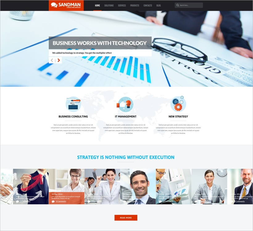 Parallax Scrolling Business Theme