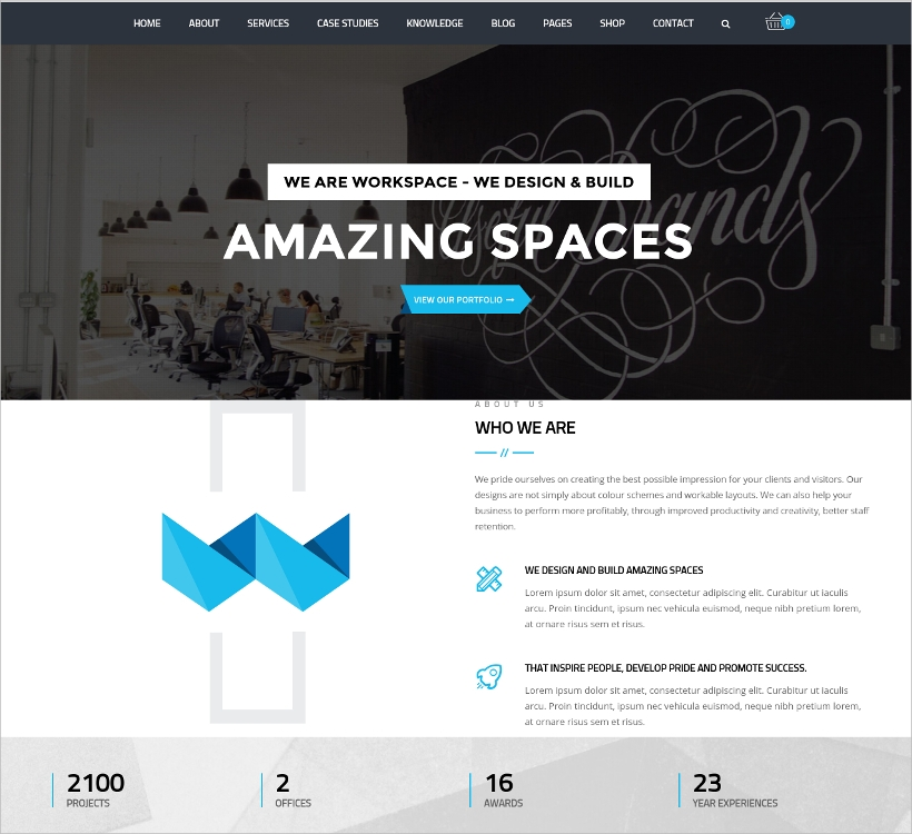 Versatile Office WordPress Theme
