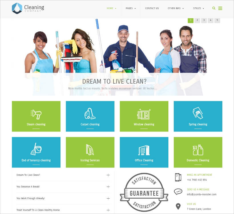 WordPress Cleaning Company Template