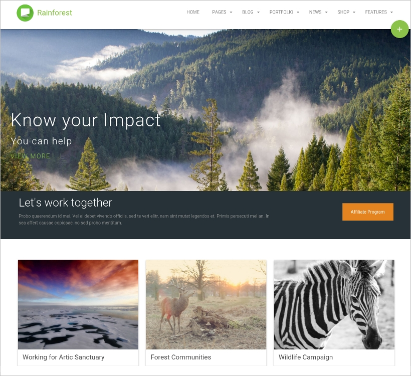 Non-Profit, Business & Multipurpose WordPress Theme