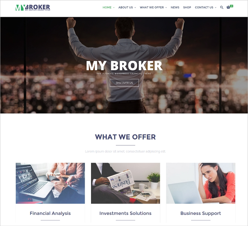 Responsive Financial WordPress Theme