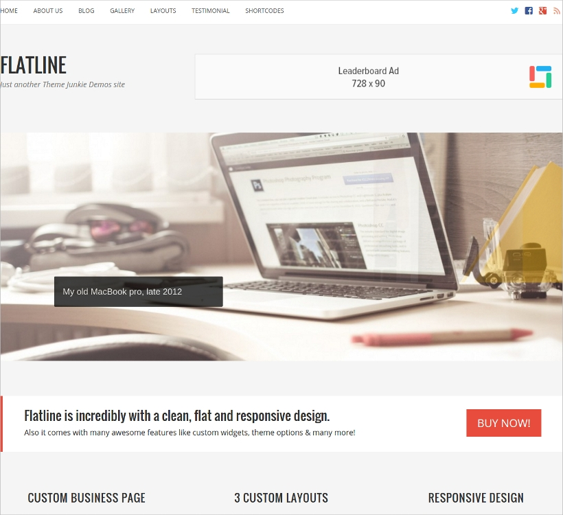 FlatLine Responsive Business WordPress Theme