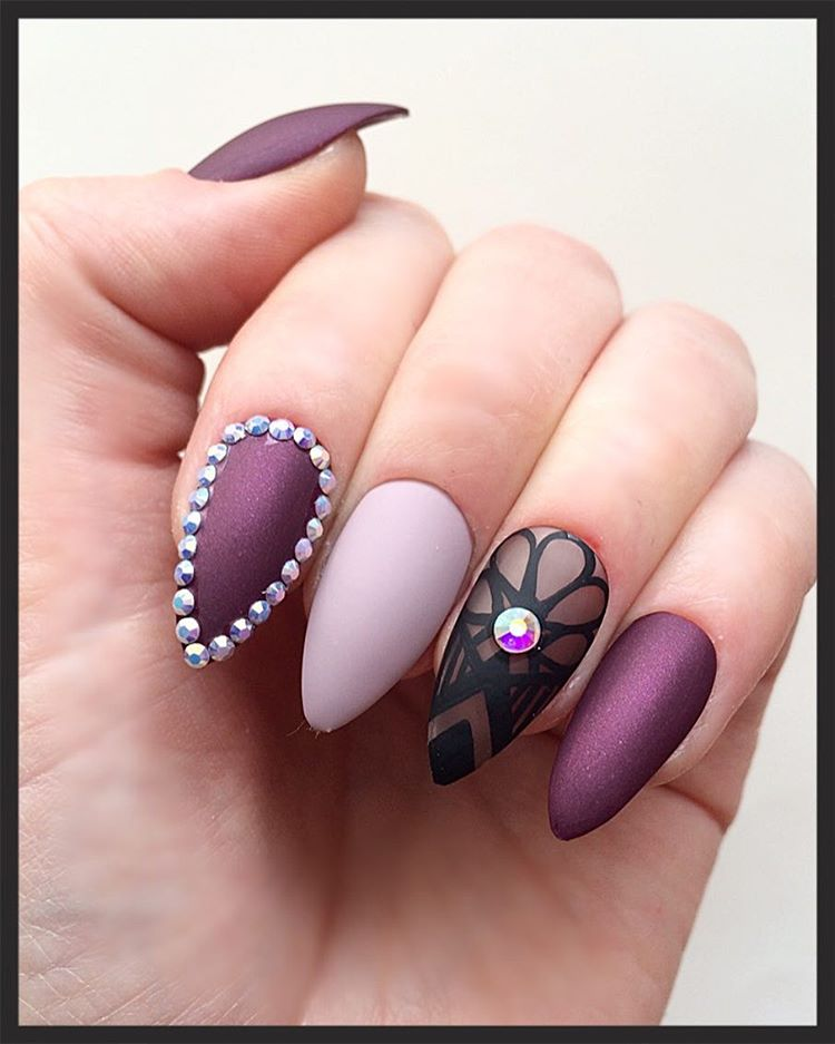 Pretty Long Red Carpet Nails