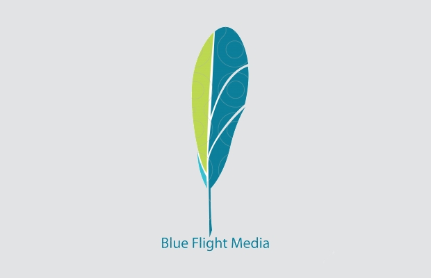 Blue and Green Feature Logo