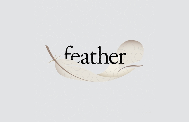 Awesome Logo of Feather