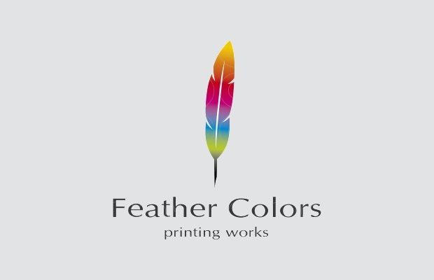 Digital Print Feather Logo