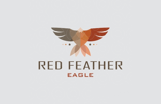 Red Feather Logo Design