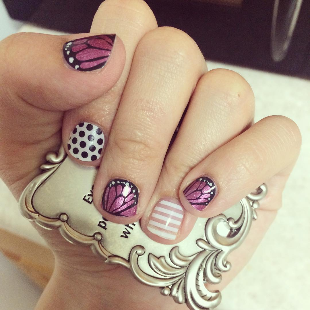 Dots and Swirling Small Nail Designs