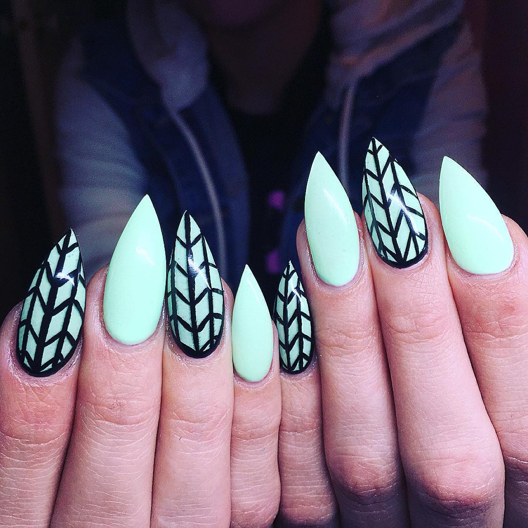 Easy Long Nails Design For Summer